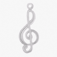 Sterling Silver 24x10mm Music Note Symbol Charm